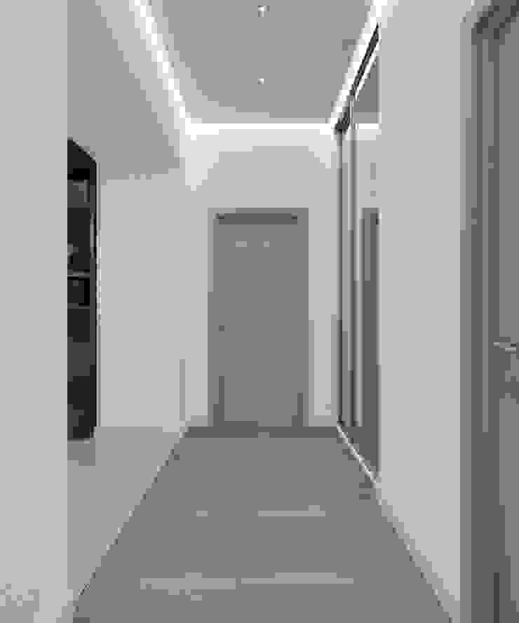 Студия дизайна Виктории Силаевой Couloir, entrée, escaliers classiques Blanc