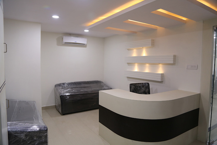 Commercial Projects Modern study/office by xcubeinteriors Modern