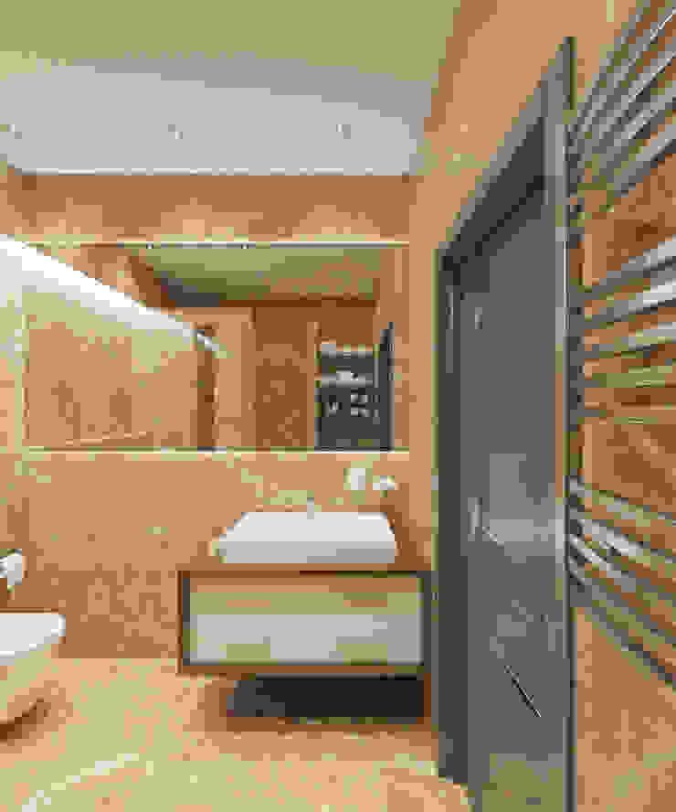 Студия дизайна Виктории Силаевой Salle de bain classique Beige