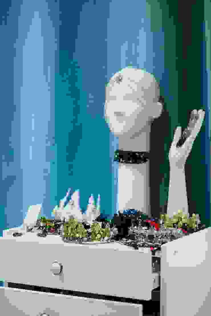 Студия дизайна Виктории Силаевой Locaux commerciaux & Magasin minimalistes Bleu