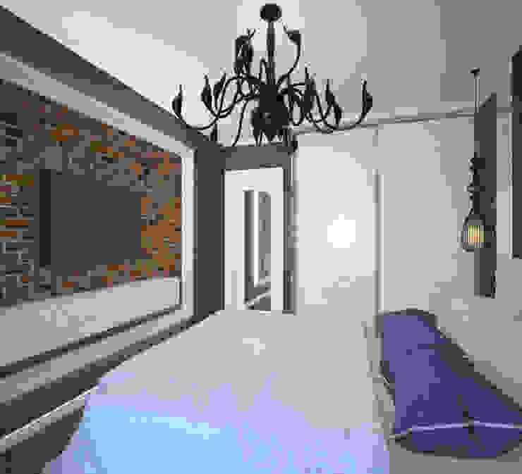 Студия дизайна Виктории Силаевой Industrial style bedroom Purple/Violet