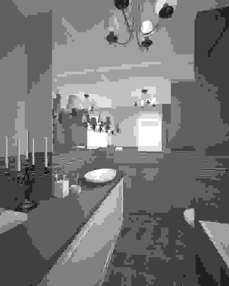 Студия дизайна Виктории Силаевой Industrial style bathroom Grey