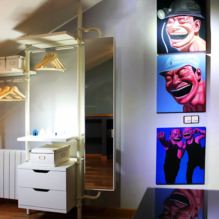 Ático Yue Dormitorios de estilo moderno de LC arquitectura Moderno