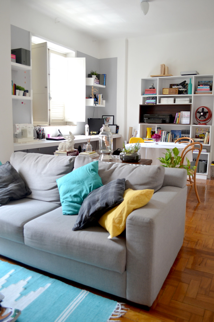 Modern Oturma Odası C|M Arquitetura e Design Modern
