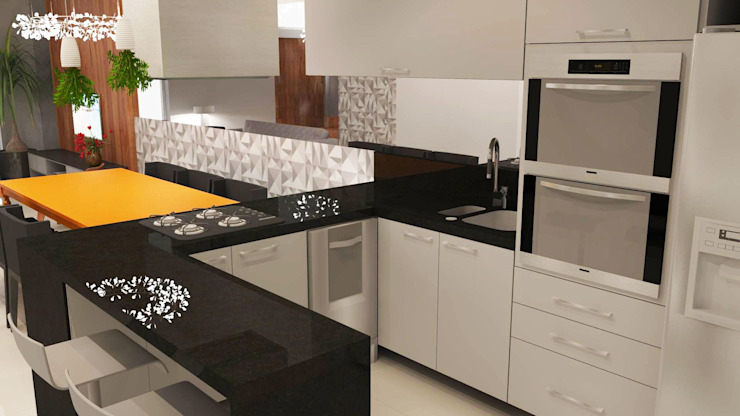 Modern style kitchen by Arquiteto Virtual - Projetos On lIne Modern