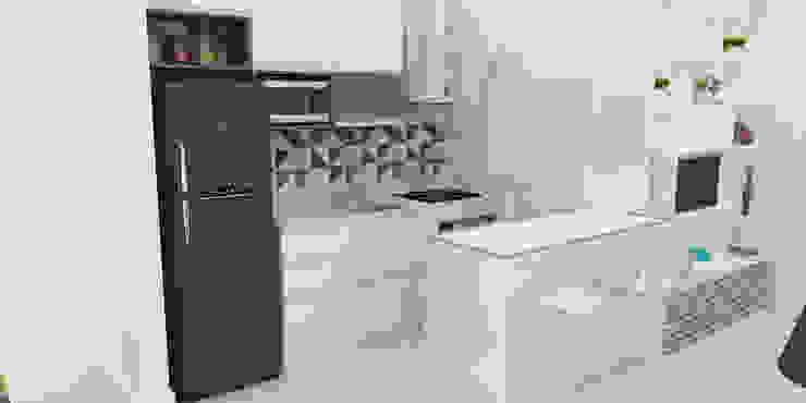 Projeto Sala | Cozinha Integrada Cozinhas modernas por Arquiteto Virtual - Projetos On lIne Moderno