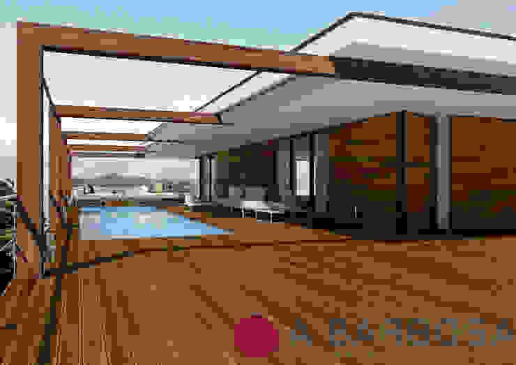 Deck Ipê A.Barbosa Piscina Madeira maciça Acabamento em madeira