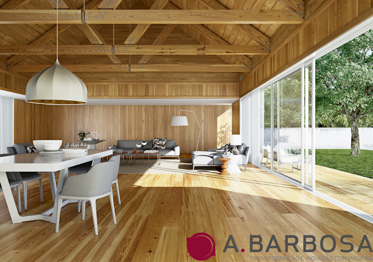 A.Barbosa Dining roomAccessories & decoration Than củi Wood effect