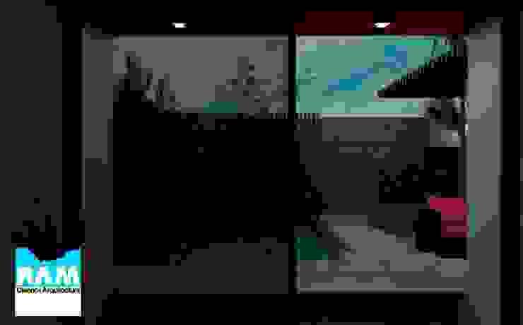 Proyecto de casa Balcones y terrazas de estilo moderno de Estudio BAM Moderno