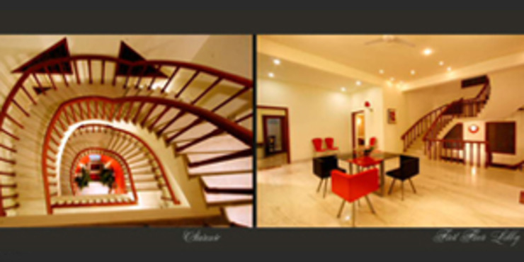 Emensee Suites Modern corridor, hallway & stairs by EXOTIC FURNITURE AND INTERIORS Modern