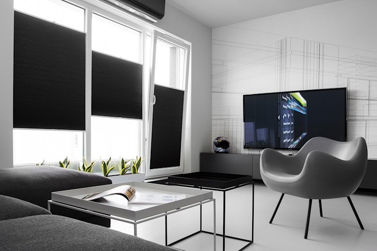 CC /_\ CONCRETE CONCEPT by KASIA ORWAT home design: styl , w kategorii Salon zaprojektowany przez WERONIKA TROJANOWSKA photographer,Minimalistyczny