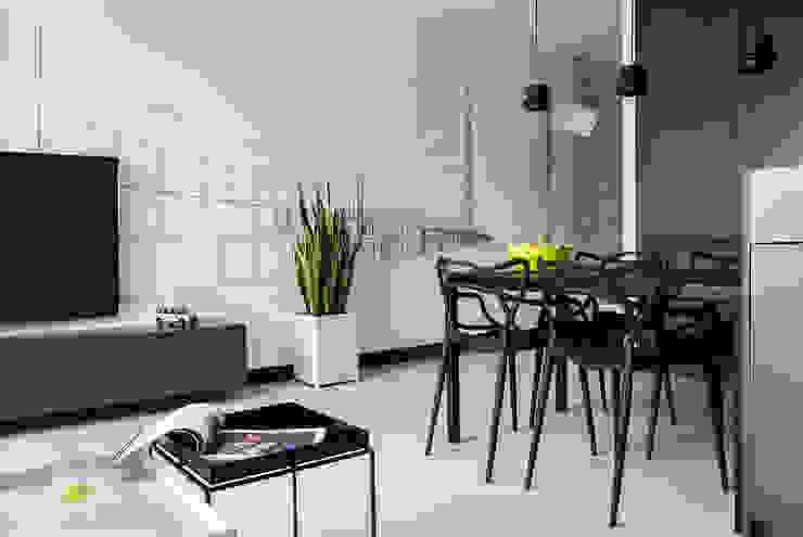 WERONIKA TROJANOWSKA photographer Salas de estilo minimalista Gris