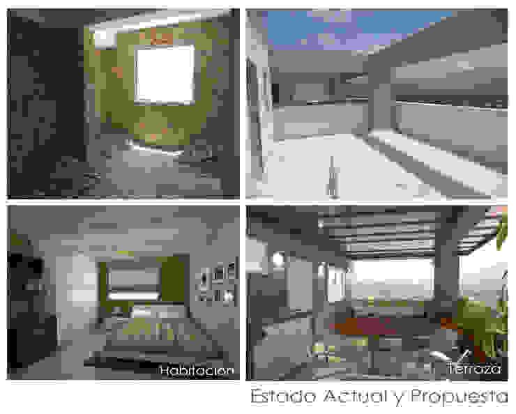 Estado Original y Propuesta Balcones y terrazas de estilo moderno de 5D Proyectos Moderno