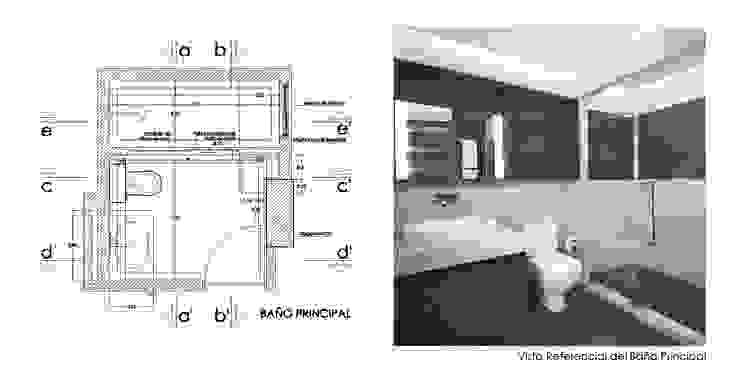 Diseño de Interiores de Apto. Residencial Baños de estilo moderno de 5D Proyectos Moderno Cerámico