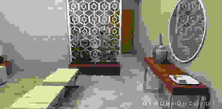 Pasillos, vestíbulos y escaleras de estilo moderno de Areabranca Moderno