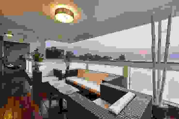 SARNAIK'S Modern balcony, veranda & terrace by Studio Vibes Modern