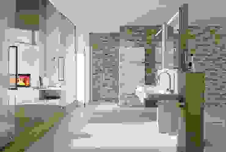 Rimini Baustoffe GmbH Salle de bain méditerranéenne Tuiles