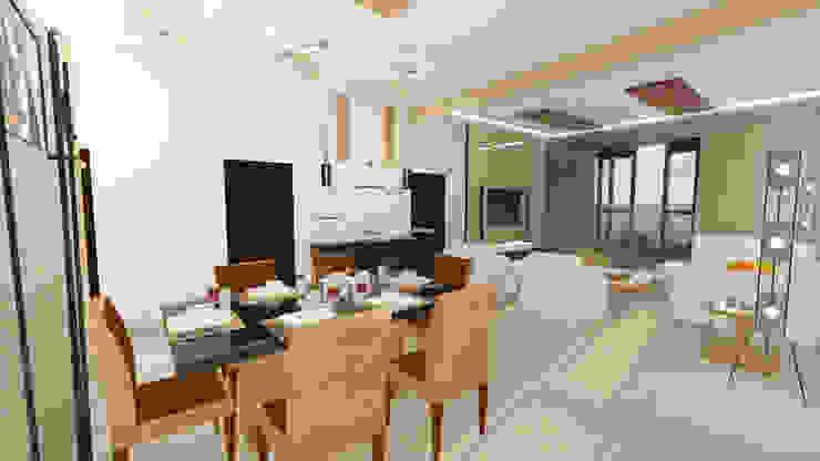 Residential Interiors Modern dining room by Crush Mango Modern
