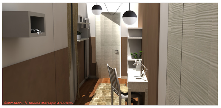 Modern Corridor, Hallway and Staircase by MmArchi. I Monica Maraspin Architetto Modern