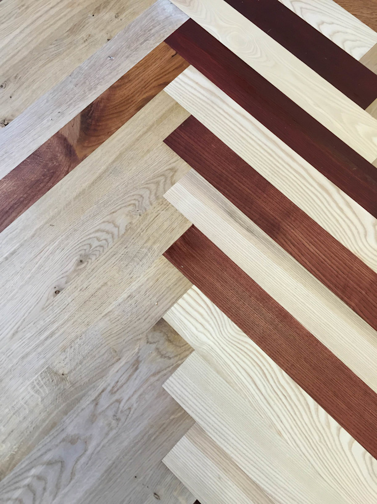 Colored parquet flooring : modern  by TF, Modern Wood Wood effect