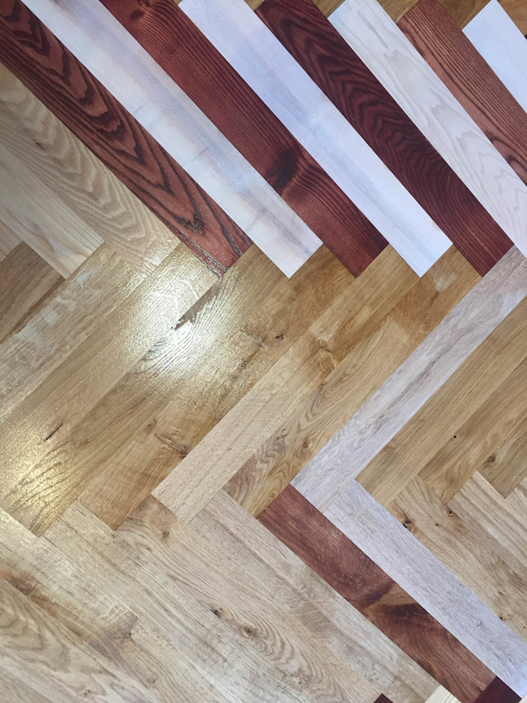 Colored wood flooring in Glasgow and Edinburgh showrooms : country  by TF, Country Wood Wood effect