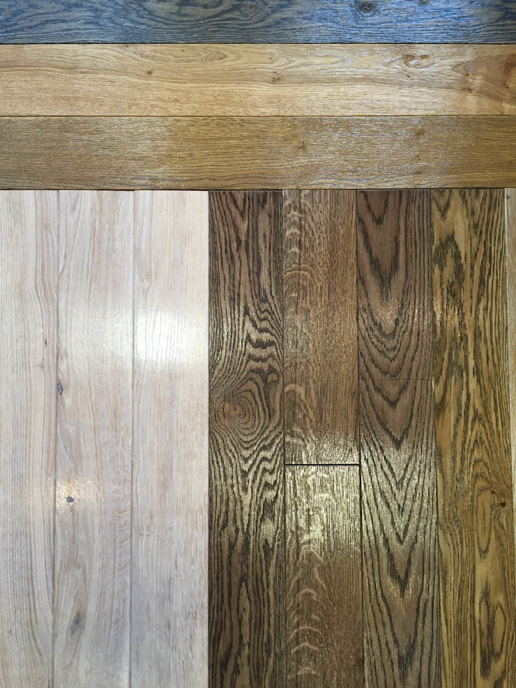 Solid wood flooring in Glasgow and Edinburgh showrooms: modern  by TF, Modern Engineered Wood Transparent