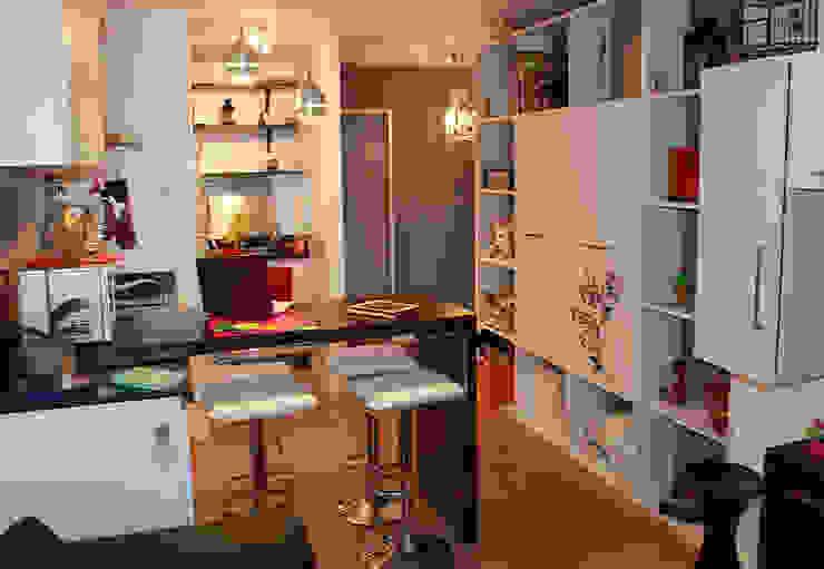 APTO V+V. TERRAZAS DE CLUB HÍPICO Oficinas de estilo moderno de AL + ARQUITECTURA Moderno
