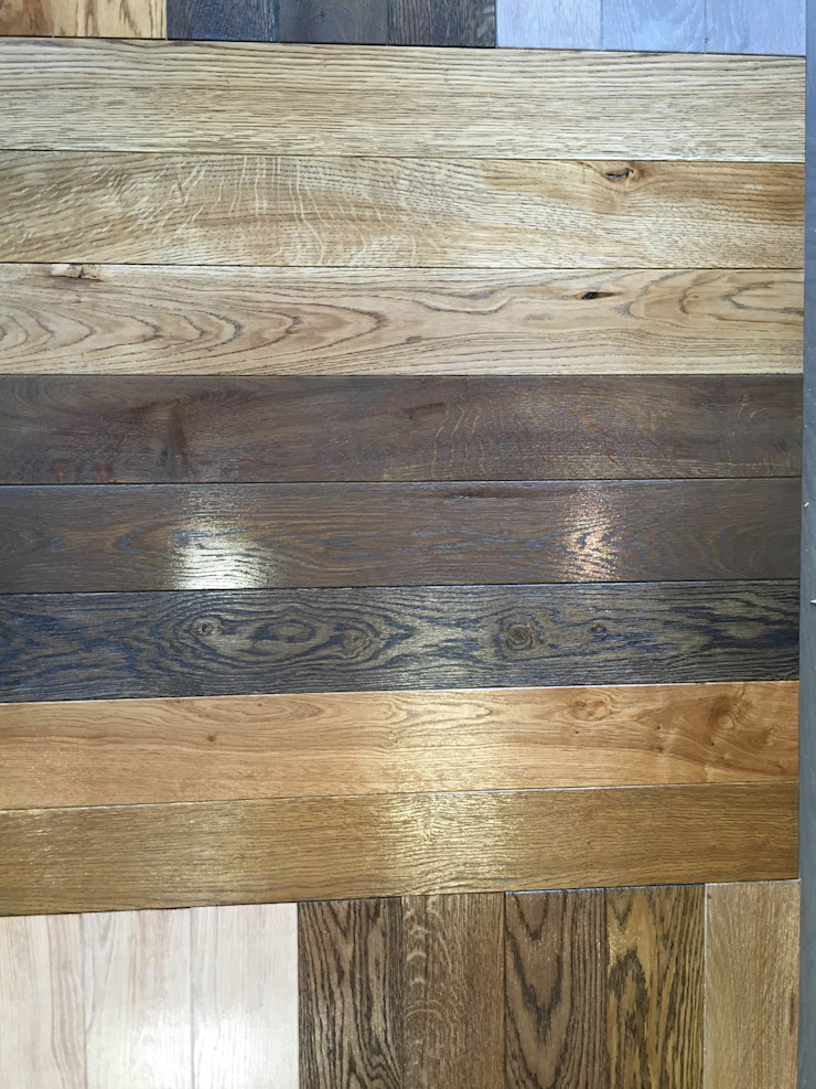 Wood flooring oak and ash: rustic  by TF, Rustic Engineered Wood Transparent