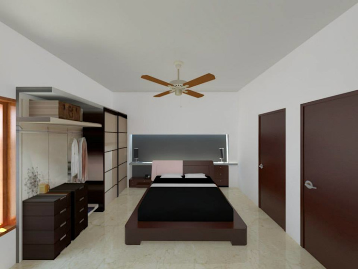 Interior Designs Modern style bedroom by riiTiH Architects Modern