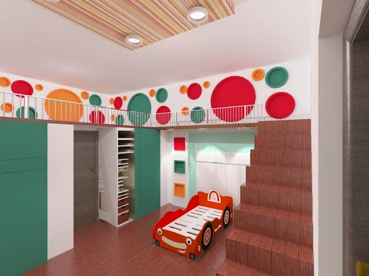Interiors Modern nursery/kids room by riiTiH Architects Modern