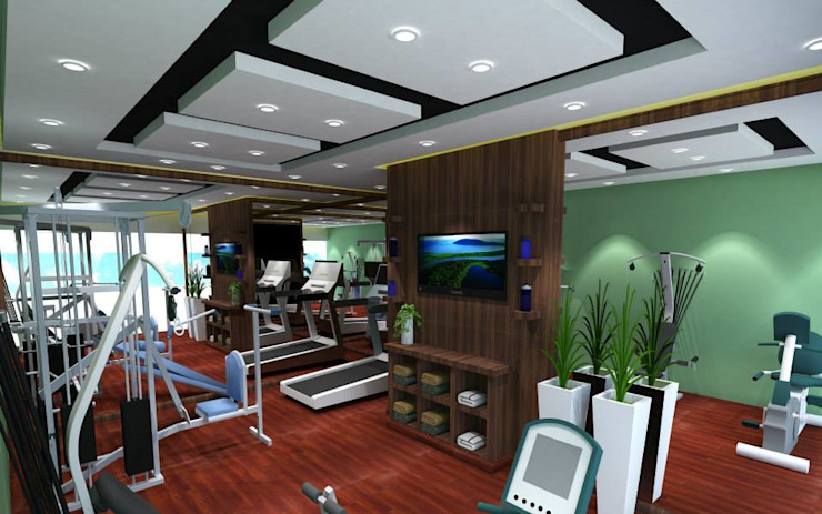 Interiors Modern gym by riiTiH Architects Modern