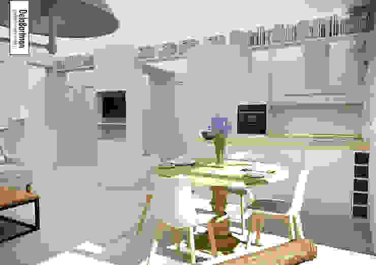 Mieszkanie inspirowane stylem Hampton Eklektyczna jadalnia od DelaBartman Eklektyczny