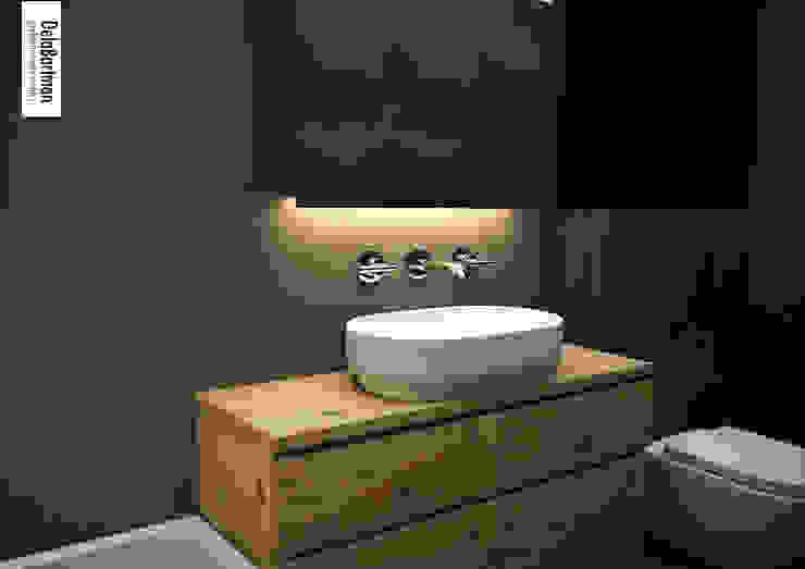 Relaksacyjna łazienka Eklektyczna łazienka od DelaBartman Eklektyczny