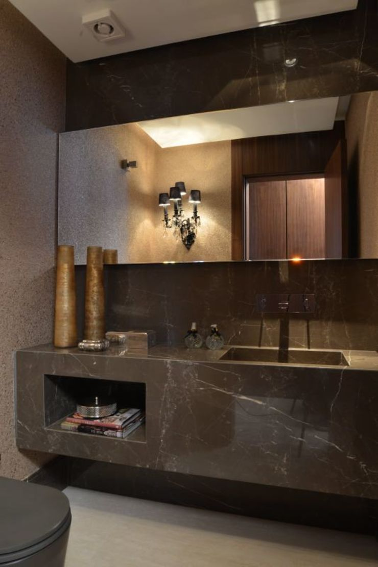 Baños modernos de Ana Letícia Virmond Projetos e Interiores Moderno
