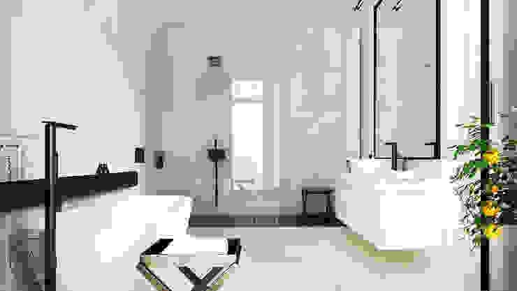 KOLEJOWA Nowoczesna łazienka od KAEL Architekci Nowoczesny Ceramiczny