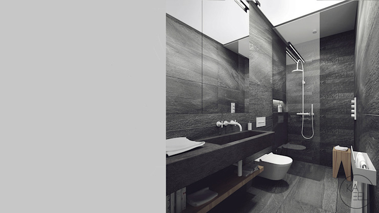 KOLEJOWA Nowoczesna łazienka od KAEL Architekci Nowoczesny Kamień