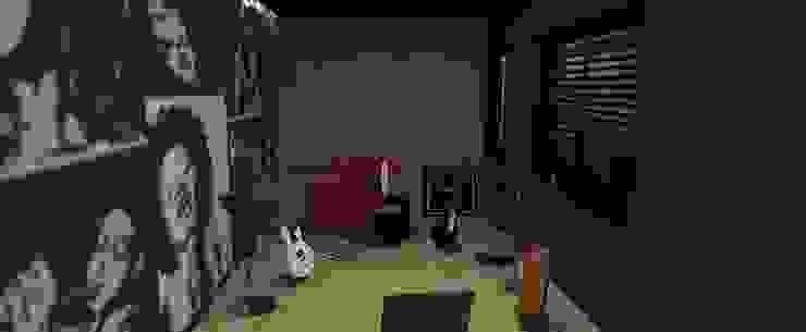 Estúdio de música Salas multimídia ecléticas por Studio 15 Arquitetura Eclético