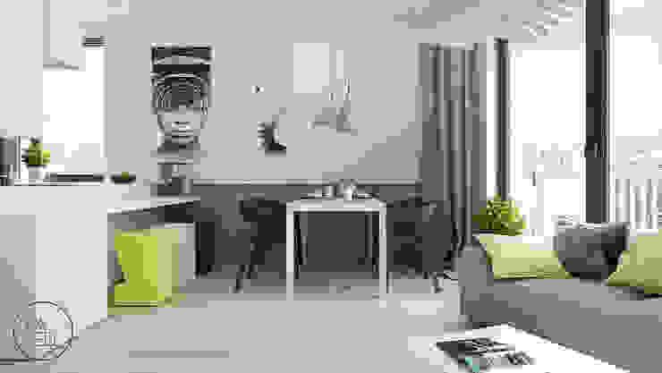 Comedores de estilo minimalista de KAEL Architekci Minimalista Concreto