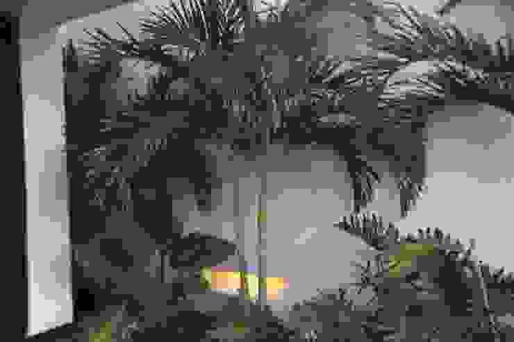 Jardin interior acceso principal. Jardines de estilo minimalista de homify Minimalista Concreto