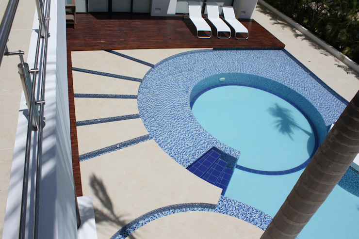 Modern pool by homify Modern Ceramic