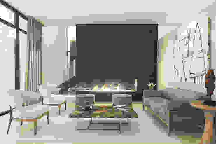 Casa Meseta Salones modernos de Grow Arquitectos Moderno