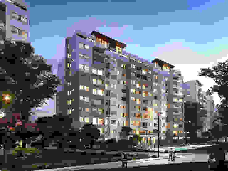 Vía Montejo Balcones y terrazas modernos de Grow Arquitectos Moderno