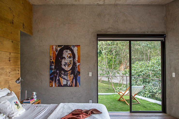 Casa Campo / Ateliê - Vale das Videiras Quartos modernos por Carlos Salles Arquitetura e Interiores Moderno