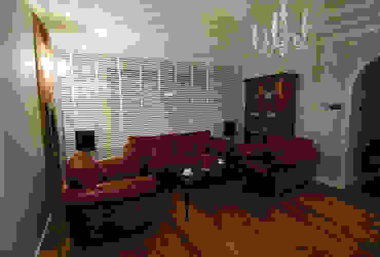 Ząbki. Eklektyczny salon od 4 kąty a stół 5 Pracownia Projektowa Ewelina Białobrzewska Eklektyczny