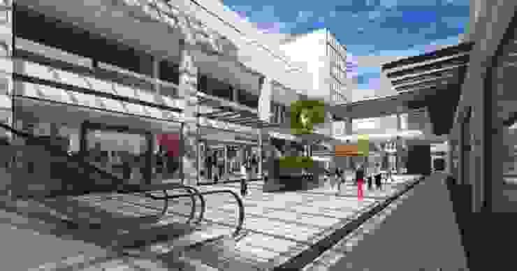 Vía Vallejo Pasillos, vestíbulos y escaleras modernos de Grow Arquitectos Moderno