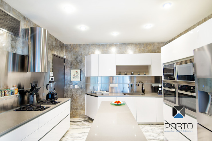 Cocinas de estilo ecléctico de PORTO Arquitectura + Diseño de Interiores Ecléctico