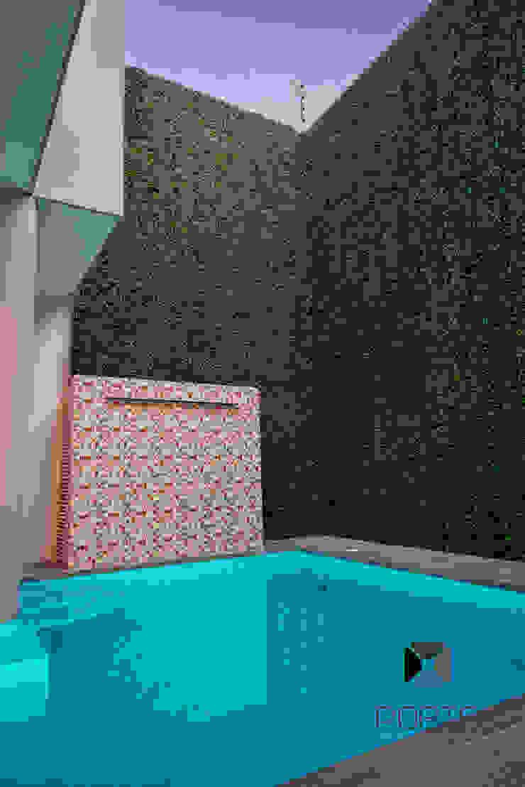 Segunda parte proyecto <q> La Ramona</q>. Albercas eclécticas de PORTO Arquitectura + Diseño de Interiores Ecléctico