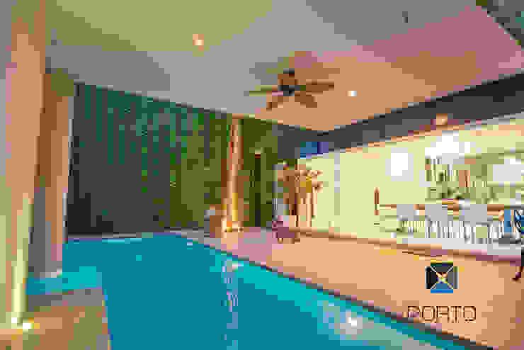 Jardin original par PORTO Arquitectura + Diseño de Interiores Éclectique
