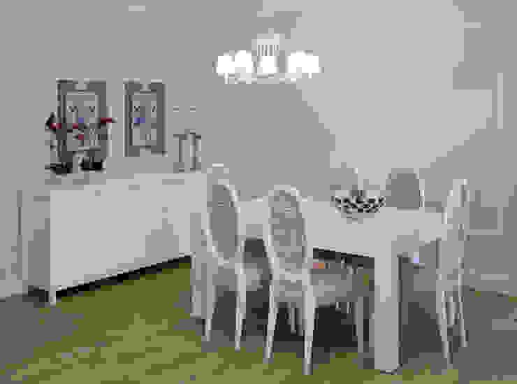 Sala de Jantar por Alfama Home Vintage Campestre Madeira Acabamento em madeira