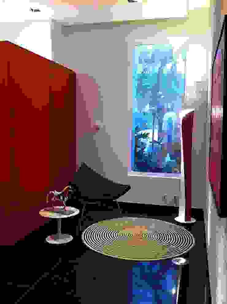 Oficinas Davivienda, Brickel MIAMI Pasillos, vestíbulos y escaleras de estilo ecléctico de CHIMI Ecléctico